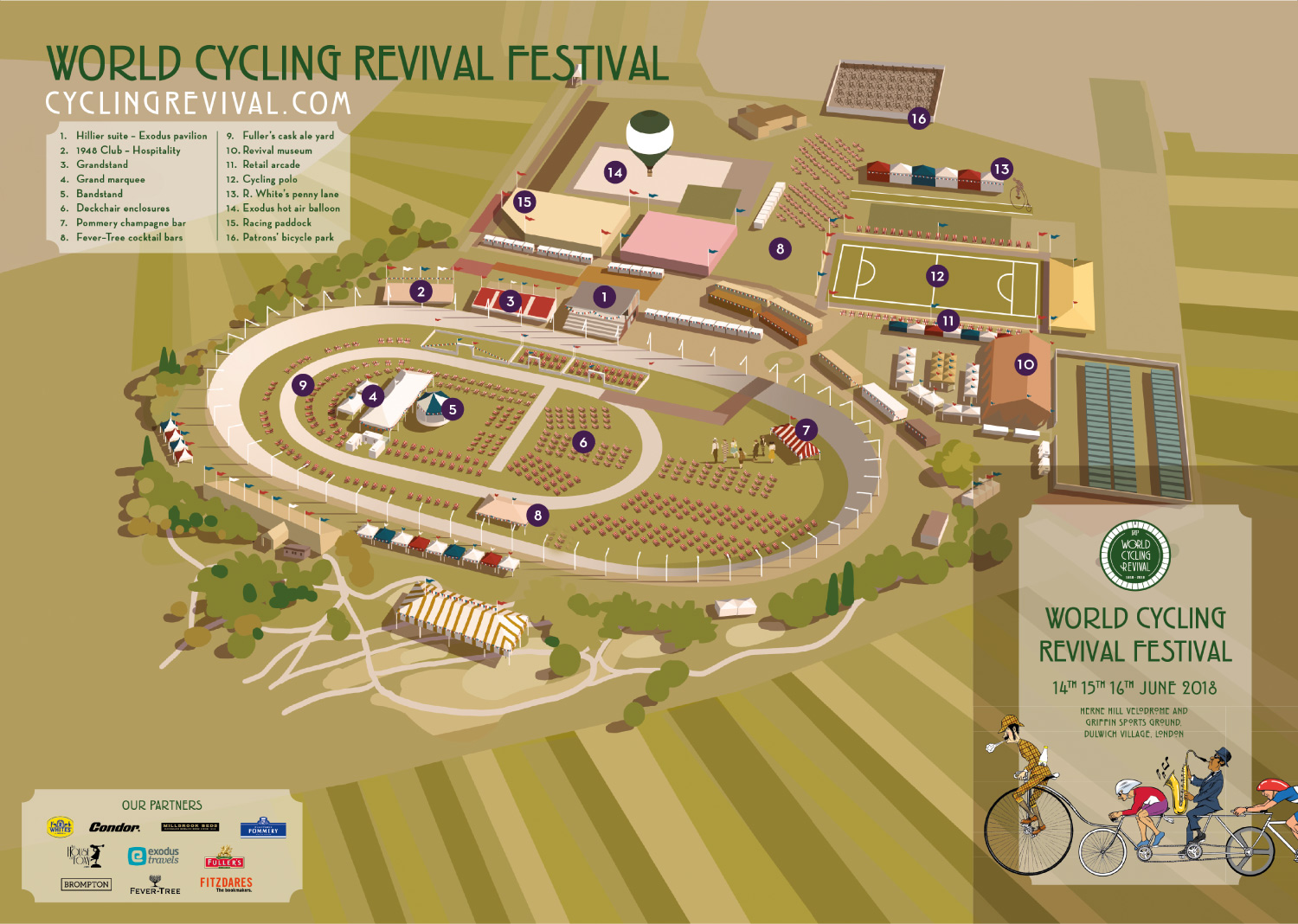 Cycling Revival Map