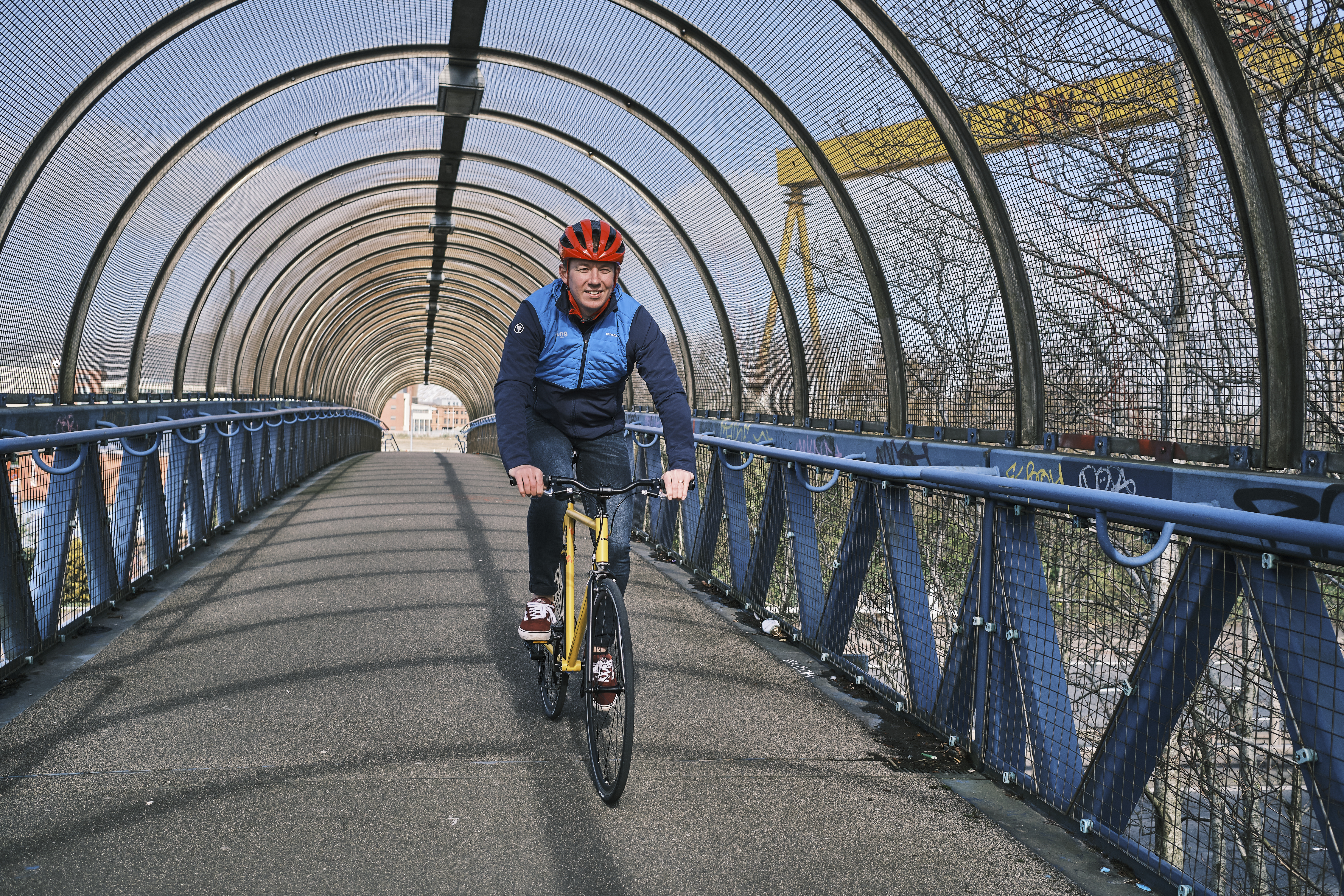 Riding along the Routes and Roots trail
