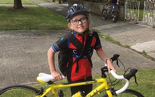 Annabel Killey and her bike