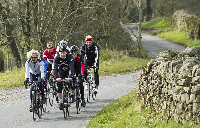 Cyclists on countryside ride