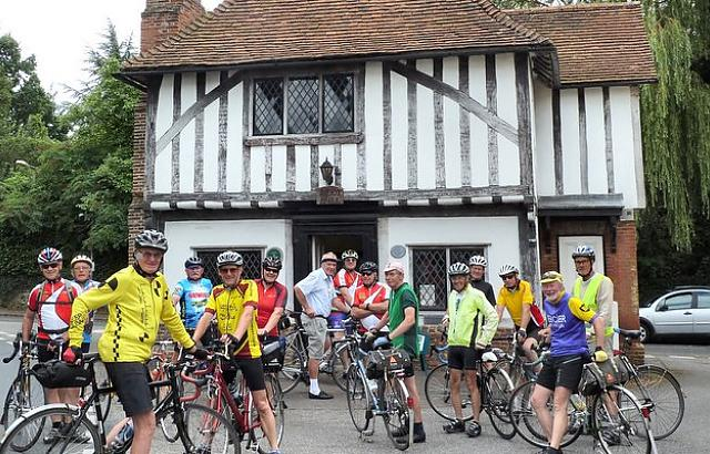 NE Essex outside half-timbered house