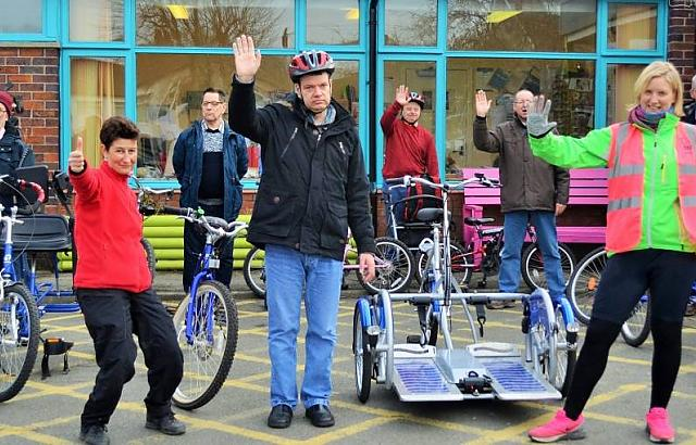 Bike supporters