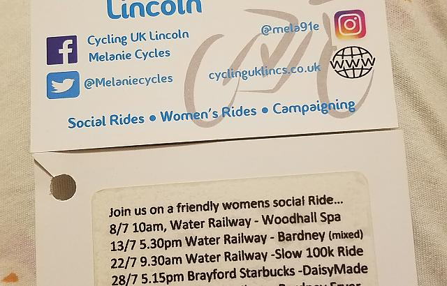 Cycling UK Lincoln business card