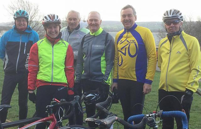 Bath Cyclists' Touring Club at a Coffee Stop