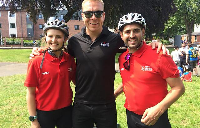 With Sir Chris Hoy