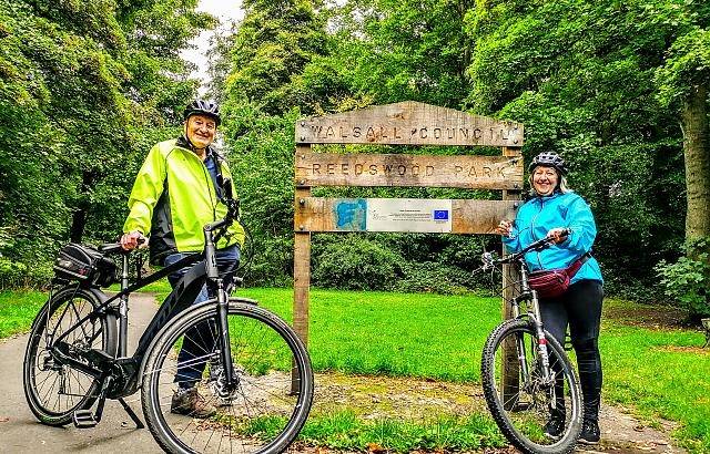 Volunteers exploring other routes for cycling club and undertaking risk assessment