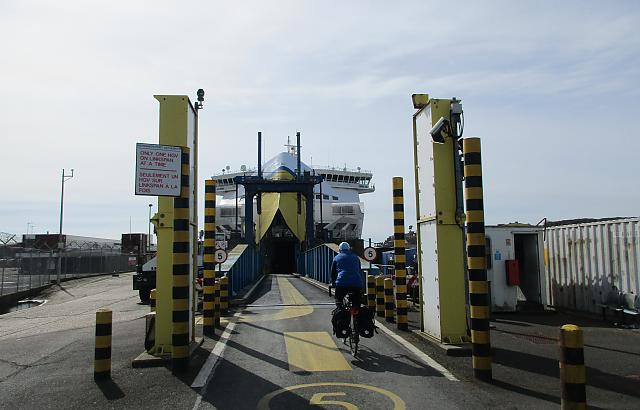 Going on the Dieppe ferry at Newhaven