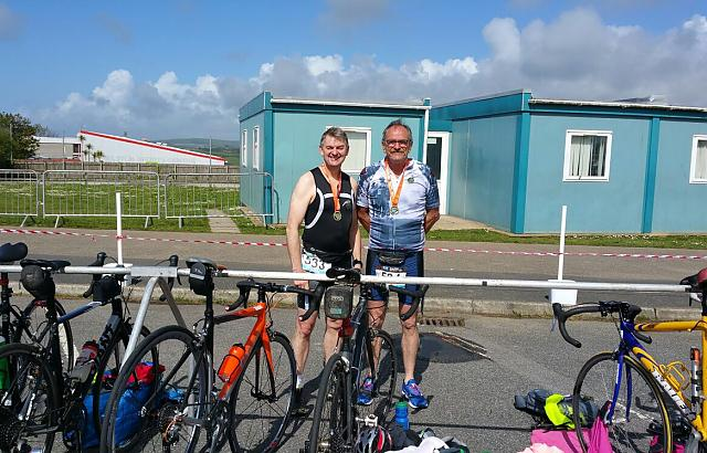 Garry and jacko at the Helton Triathalon