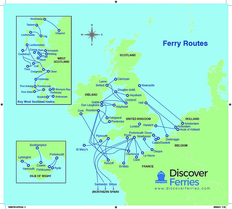 Map Of England Holyhead.Guide To Taking A Bike On A Ferry Cycling Uk