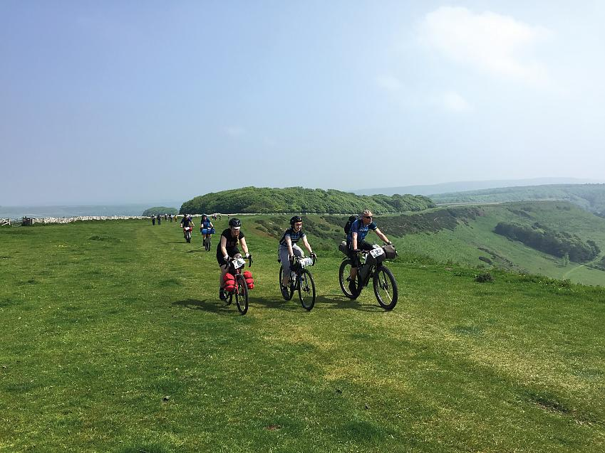 Three riders coming up to Swyre Head