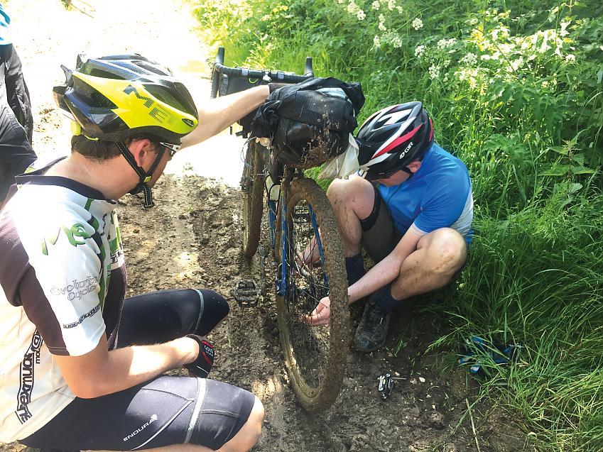 Bike repairs en route