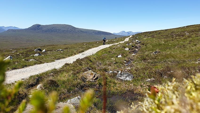 Mountain biker in the Northern Highlands