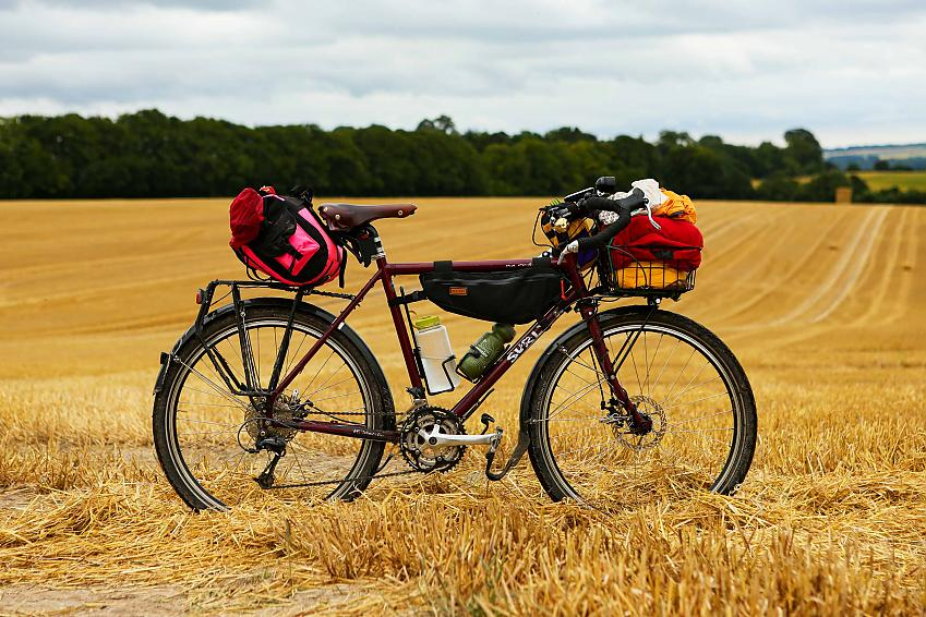 Surly Disc Trucker ridden by Cycling UK's Sam Jones along the inaugural ride out on King Alfred's Way