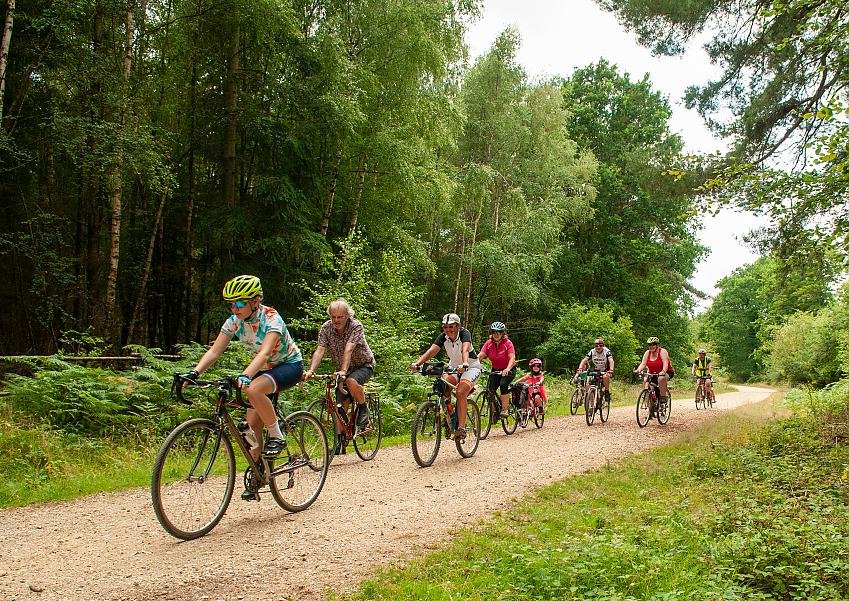 Cyclists at the New Forest Cycling Week