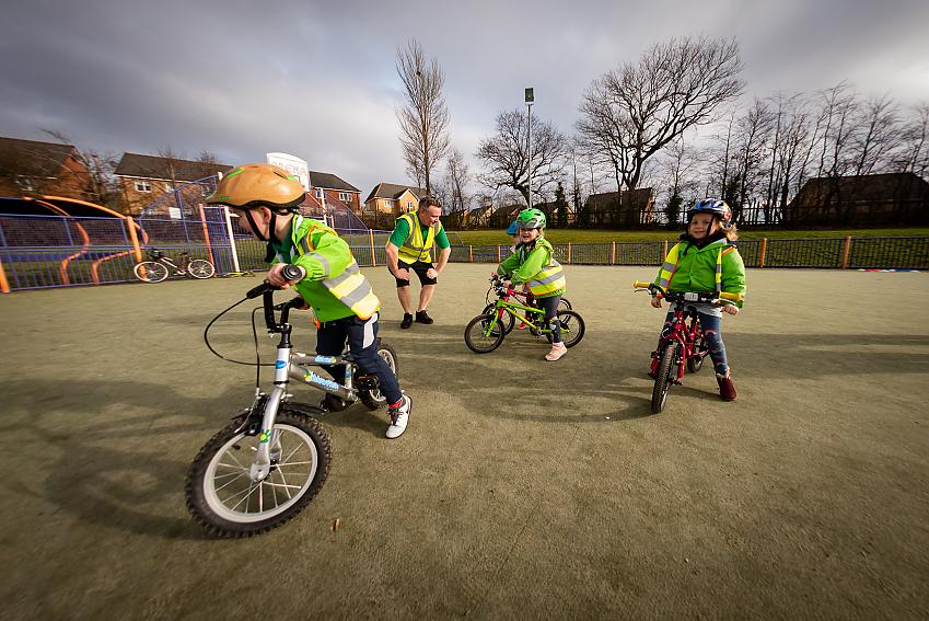 Children taking part in Play Together on Pedals