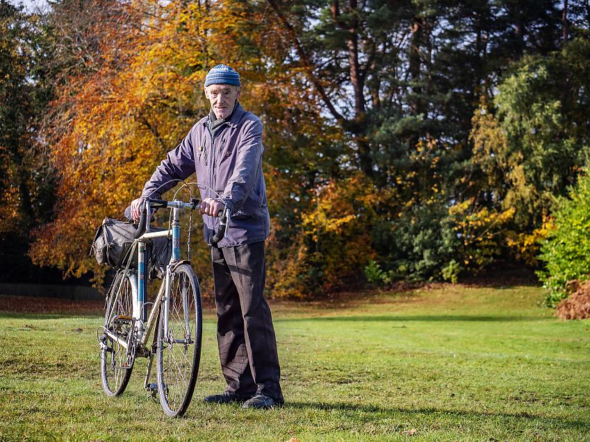 Russ Mantle and his Holdsworth. Photo Robert Spanring / Cycling UK
