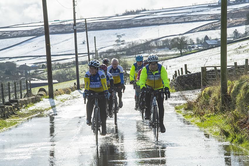 Groups often ride two abreast - helping keep the group compact.