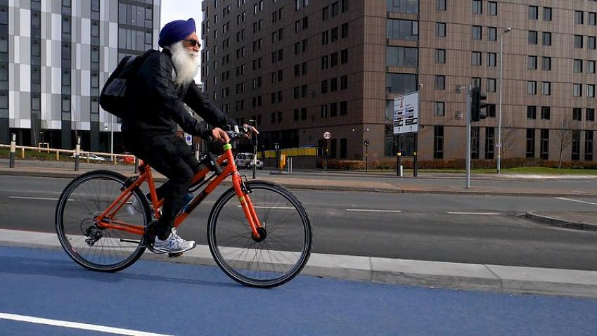 One of Birmingham's new cycle lanes