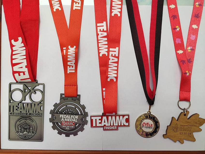 Syeda's cycling medals