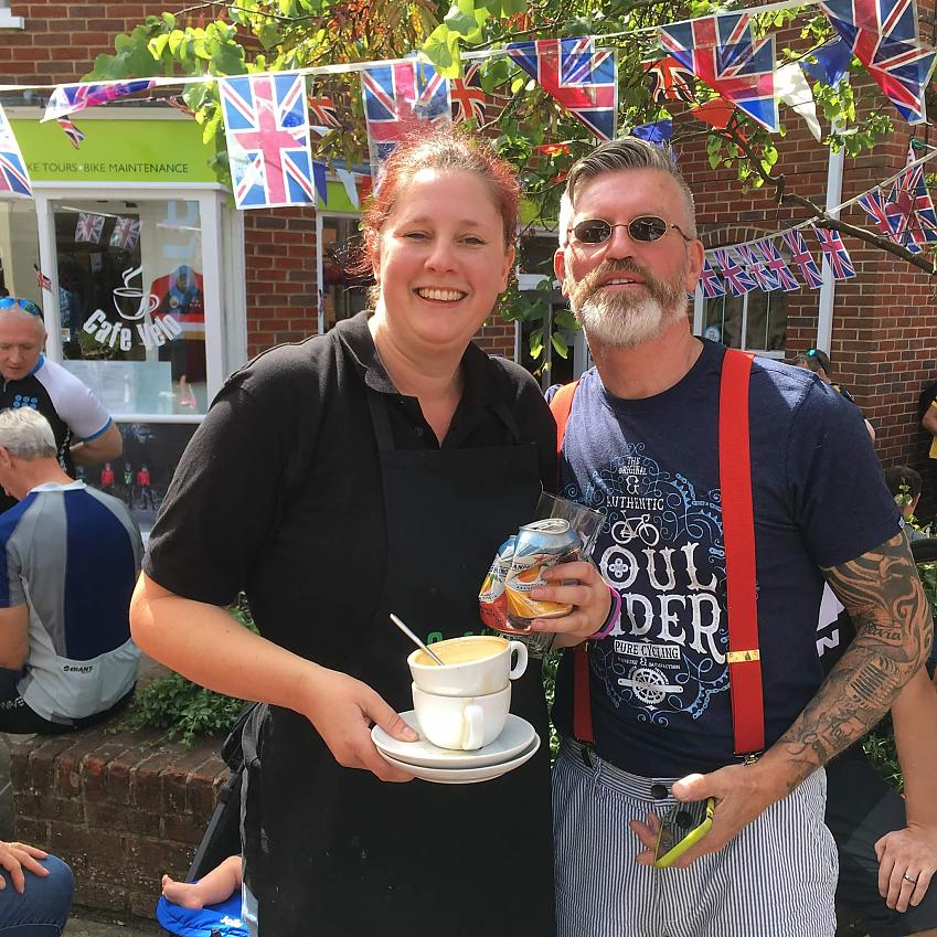 Peter Moore and Vicky Richards of Café Velo
