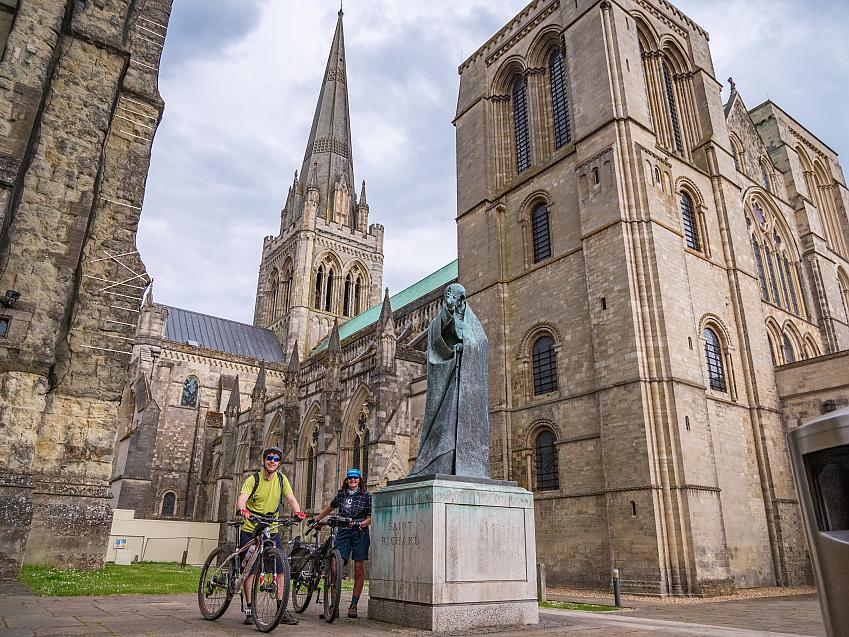 Journey's end at Chichester Cathedral