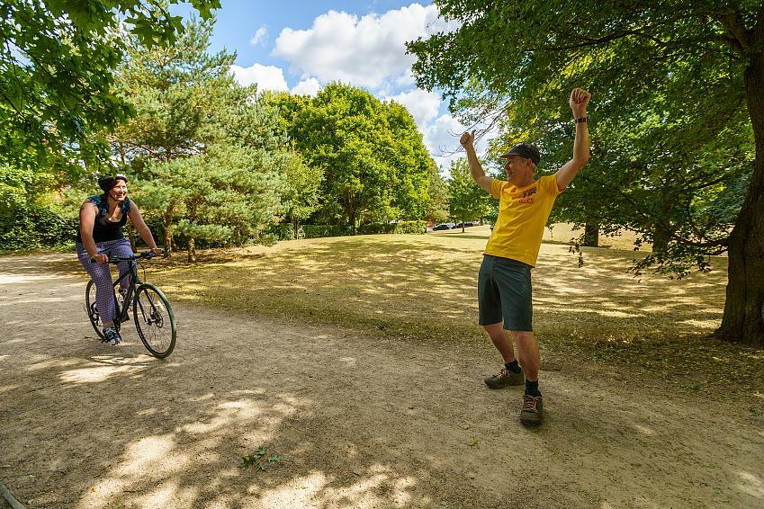 Encouraging new cyclist