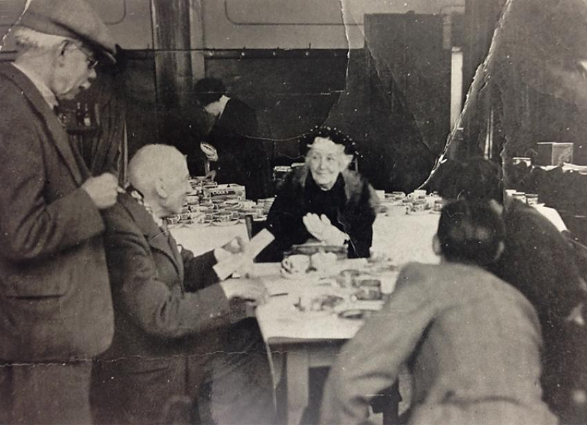 1938 Diamond Jubilee Dinner showing Mrs Welford
