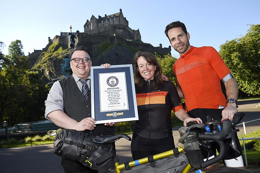 Craig Glenday, Jenny Graham and Mark Beaumont