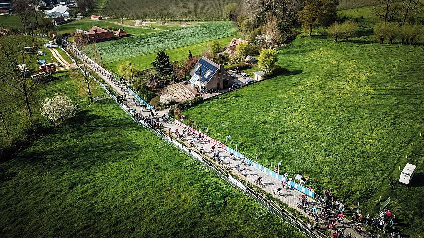 Narrow, cobbled farm tracks are the heart of the ride.