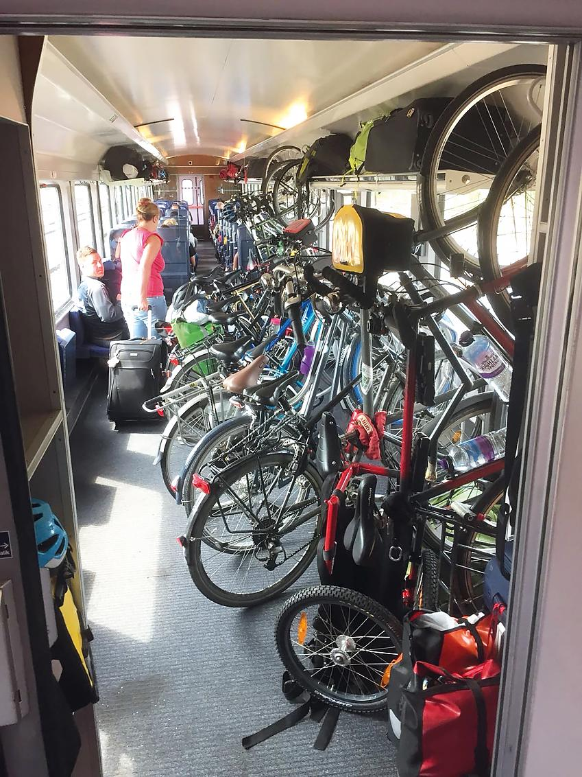 German trains with plenty of bike space