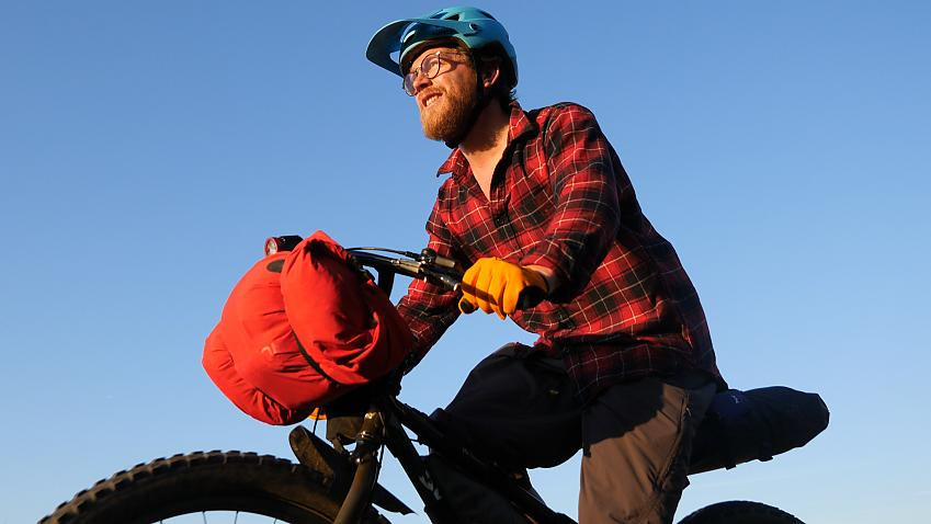 Bikepacking cyclist