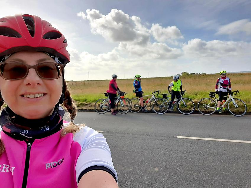 """""""Cycled 34 miles in a group of 5 fantastic ladies starting from Leigh on a very scenic circular route through Billinge, Rainford, Upholland and Wigan"""""""