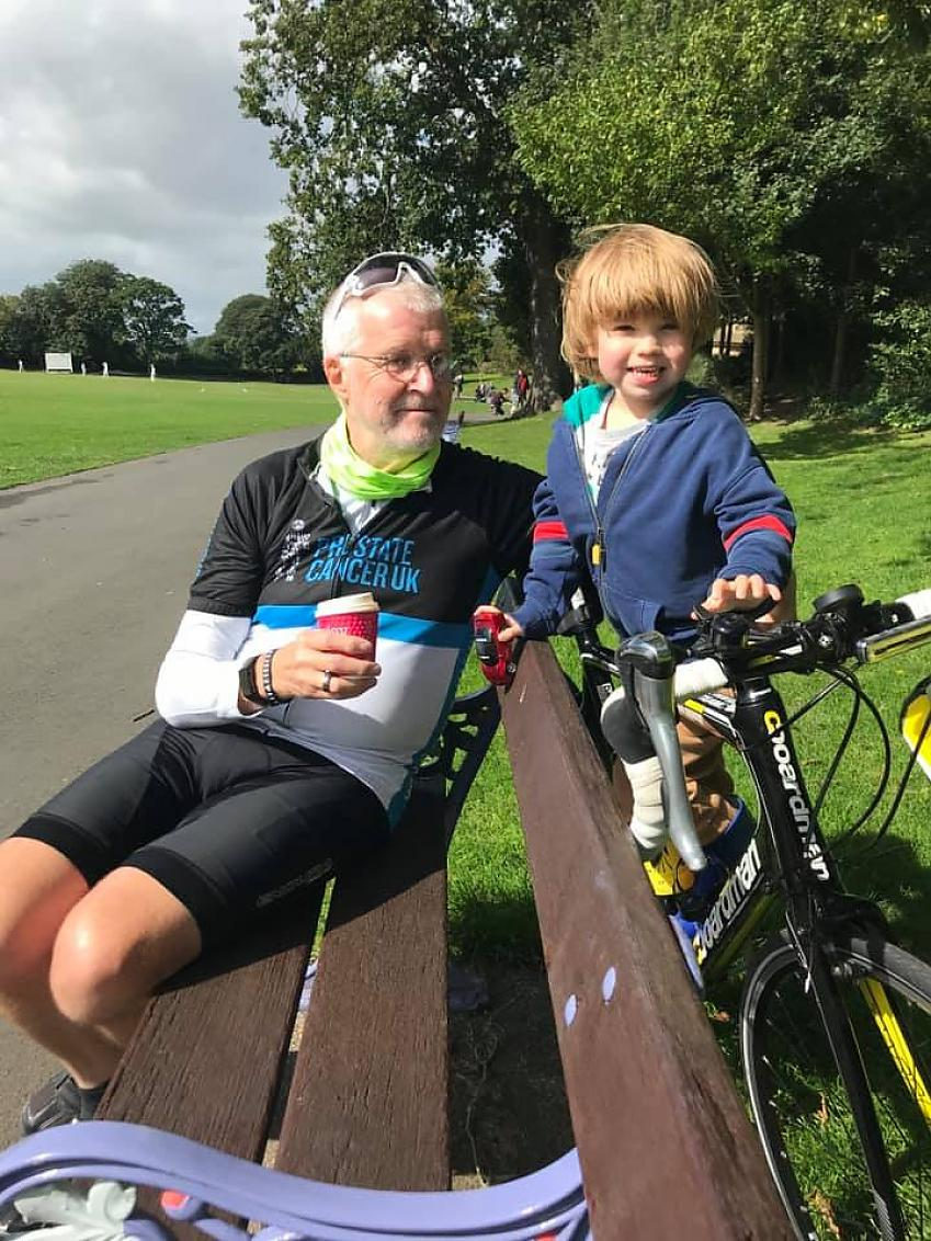 """""""Met up with grandson for first time in 3 months!! 34 mile round trip! """""""