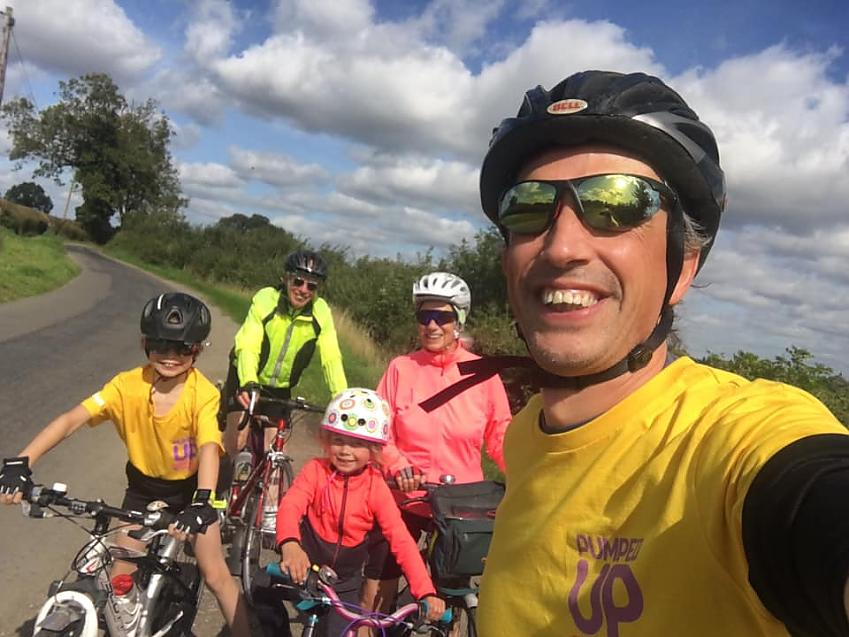 """""""Fun day our cycling with the family, 25 miles with plenty of cafe & playground stops joined by grandparents for half of it so three generations of ODs taking part in #wbbr2020"""""""