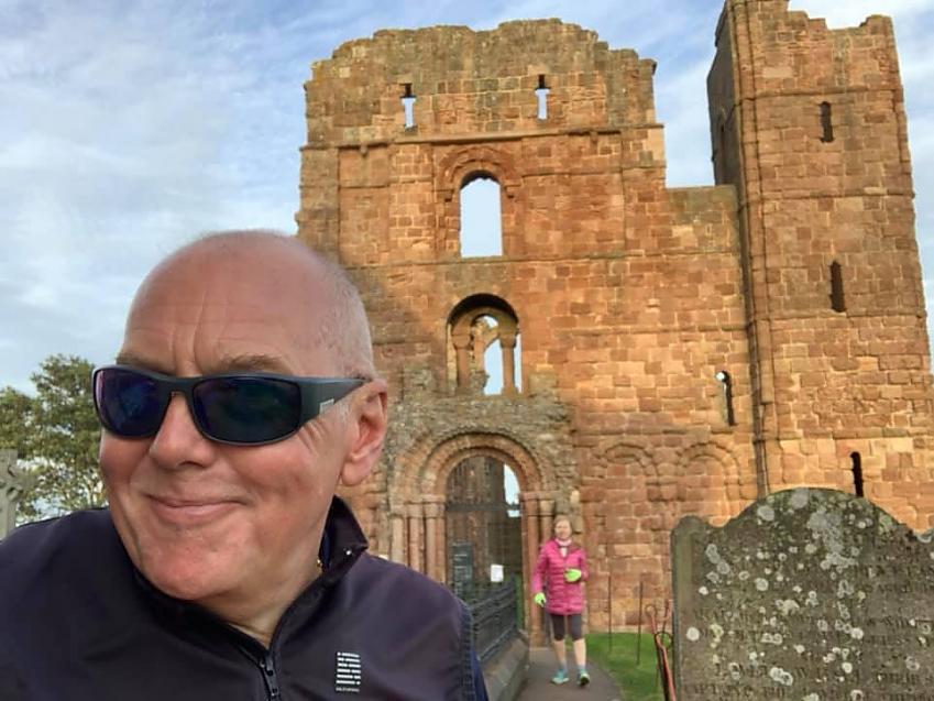 """Enjoying the NCN Route 1 Coasts & Castles tour from Newcastle to Edinburgh. The pilgrimage to Holy Island was splendid."""