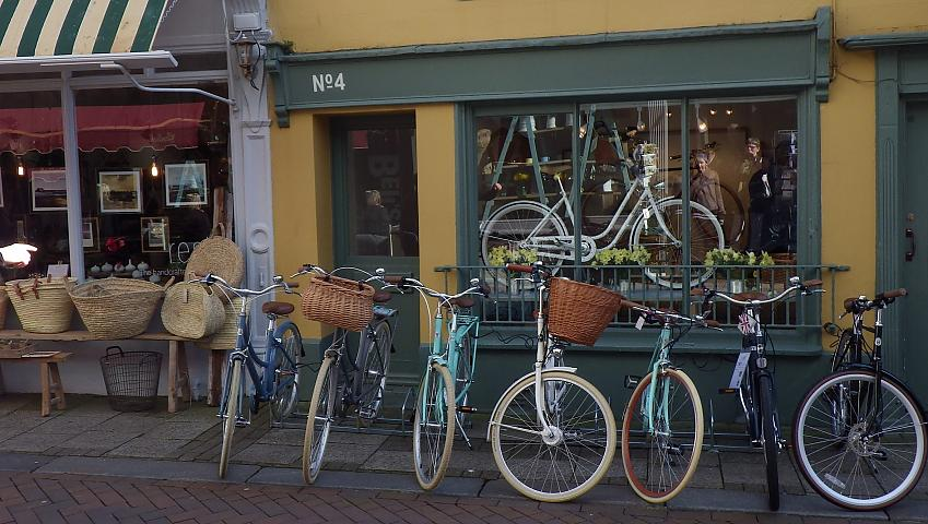 Bikes outside a shop