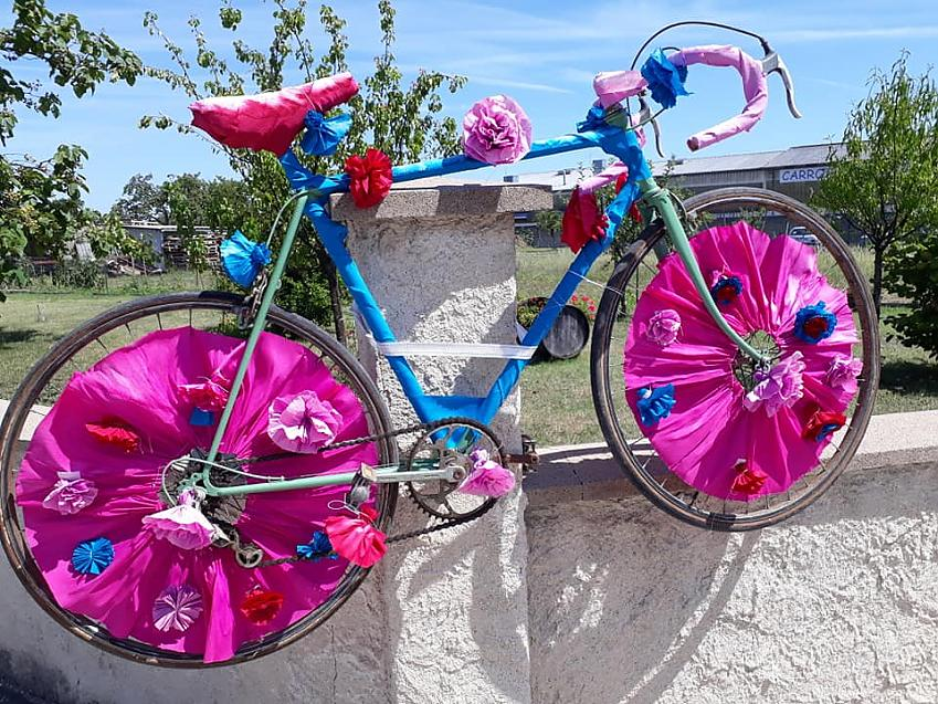 A decorated bike