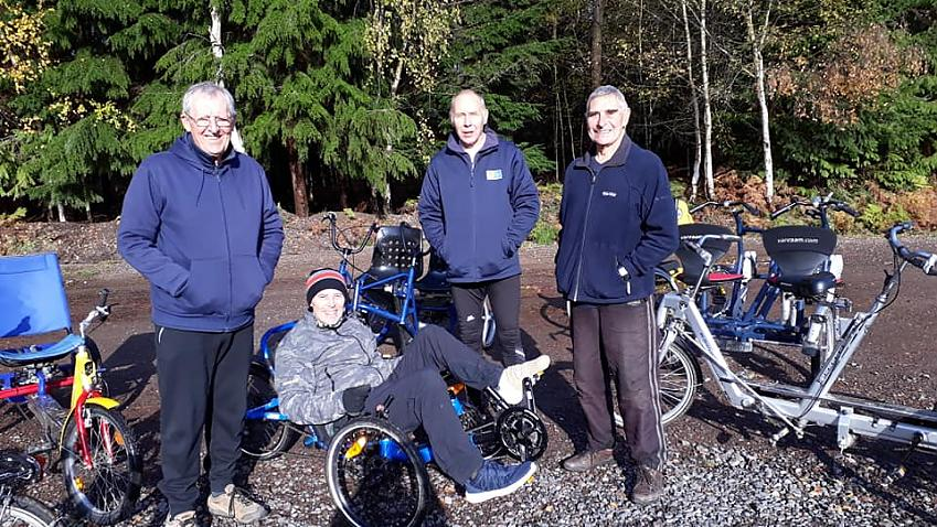 Volunteers at Alice Holt Inclusive Cycling