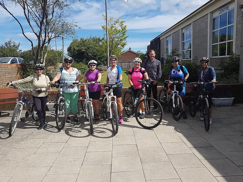 Alison (2nd right) and Cycle East Durham