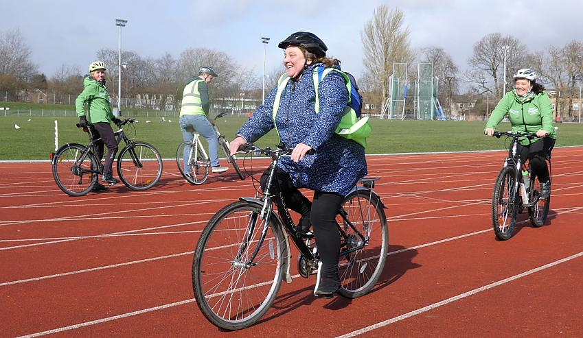 Andrea took part in the Cycle for Health scheme to help her mental health