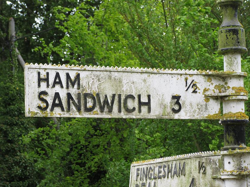 Ham Sandwich signpost
