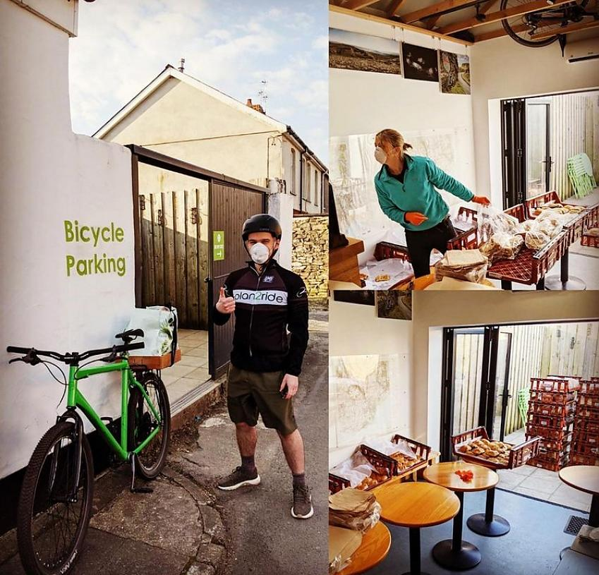 plan2ride Bicycle Café, Tongwynlais, set up a 'Bakery by Bike' delivery service during lockdown