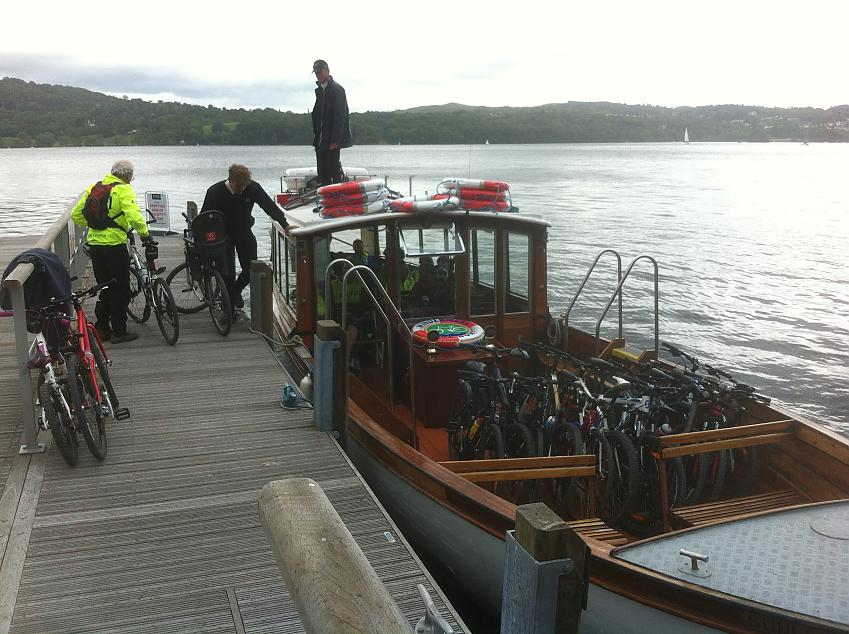 The Bike Boat on Lake Windermere. Photo by Karen Gee