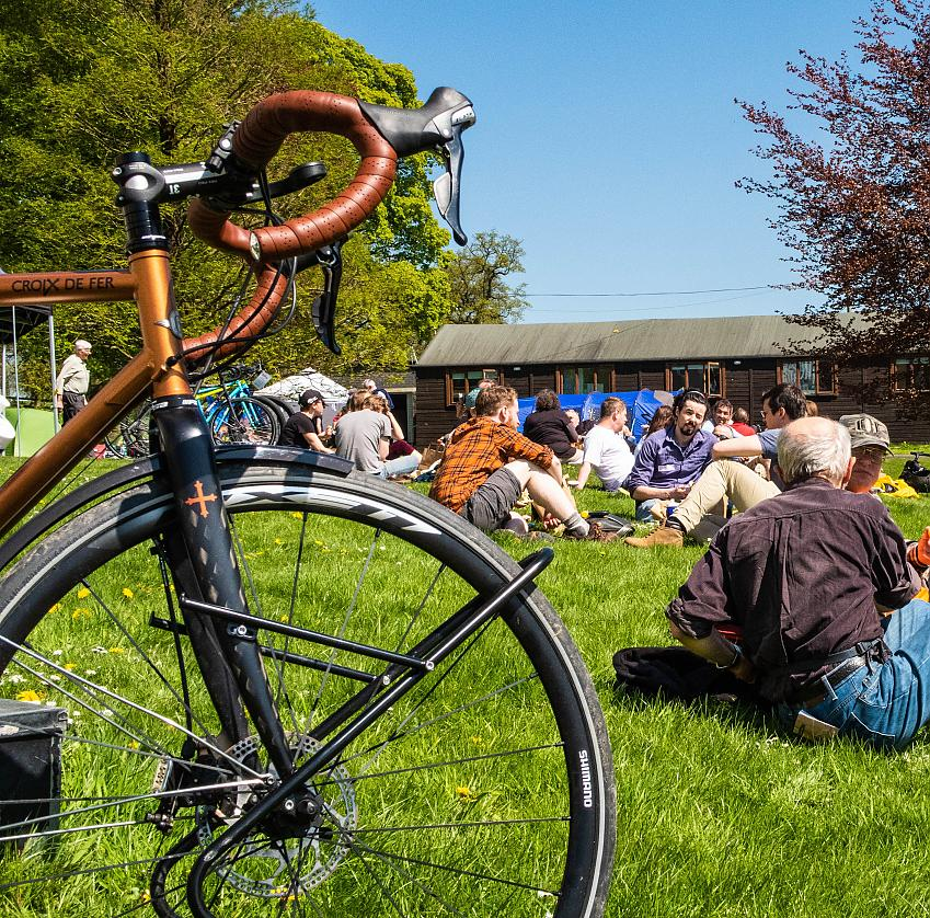 A typical lunchtime at the Cycle Touring Festival