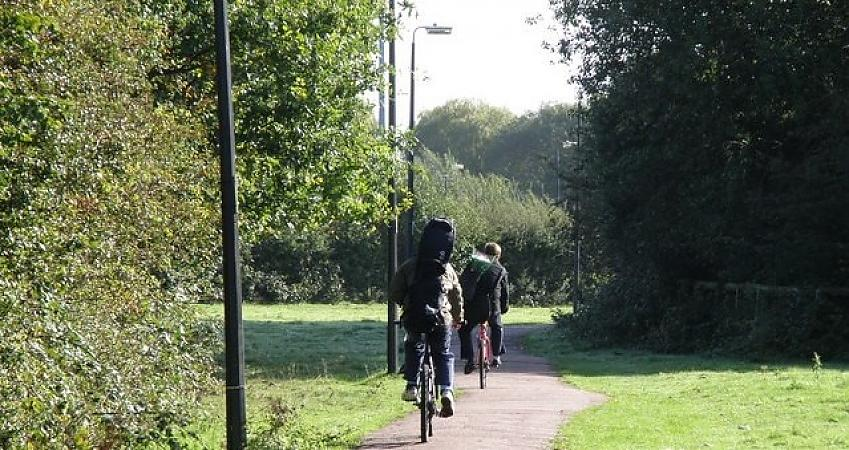 Cyclists on Coldhams Common