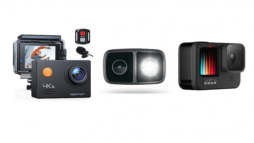 Apeman Action Camera A79, Cycliq Fly12 CE, GoPro Hero 9 Black