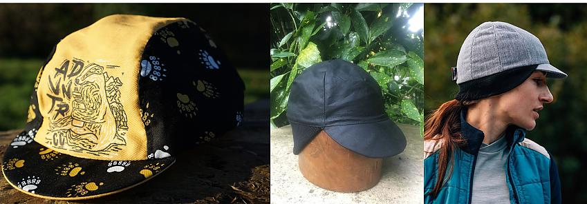 Selection of cycling caps