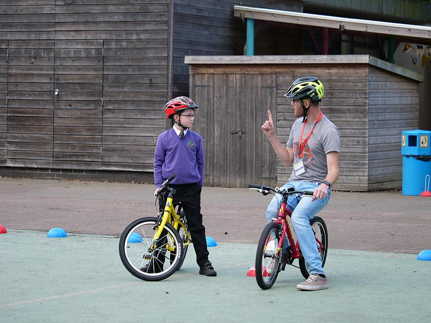 Cycle lessons at school