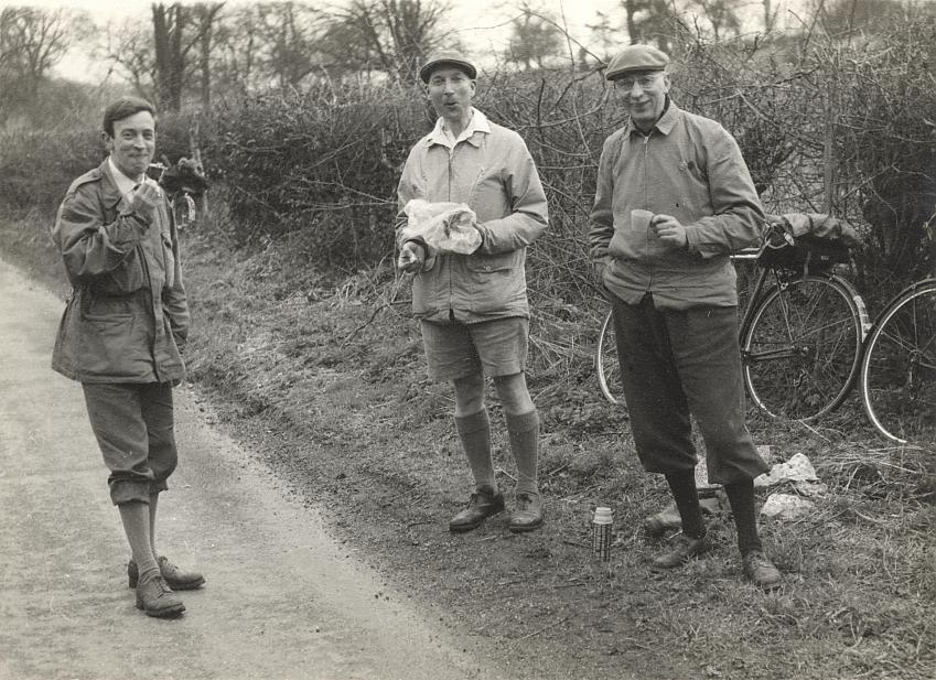 Reggie Johnson, centre in cycling shorts, 1966. Photo with permission from Carl Johnson.