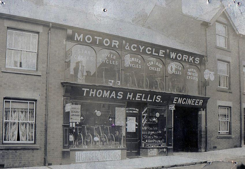 Thomas Ellis H Motor and Cycle Works, c 1890s. Photo with permission from Peter Ellis.